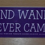 Bumper sticker: My Mind Wandered … And Never Came Back