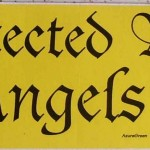 Bumper sticker: Protected by Angels
