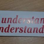 Mini sticker: Love understanding to understand love.