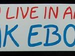 Bumper Sticker: Hey, You Live In America Speak Ebonics