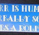 Bumper Sticker: To Err Is Human … But To Really Screw Up It Takes  a Politician