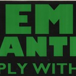 """Bumper Sticker/Auto Decal: """"Hemp Wanted Apply Within"""""""