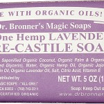 Dr. Bronner's Organic Pure Castile Bar Soap, Lavender, 5 oz