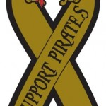 Support Pirates Ribbon Magnet