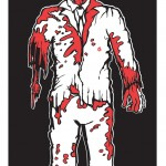 Zombie Family Cling sticker: Dad.