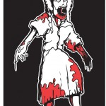 Zombie Family Cling sticker: Daughter (girl).
