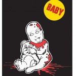 Zombie Family Cling sticker: Baby.