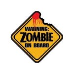Warning Zombie On Board – Air Freshener