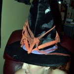 Witches Hat: bats, purple and orange trim (electronic) (used)