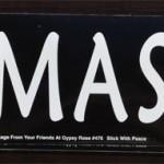Bumper Sticker: Namaste (white text on black)