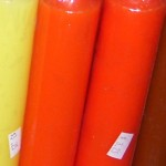Orange Pillar Spell Candle, 9 inches