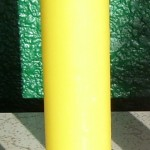 Yellow Pillar Spell Candle, 9 inches tall