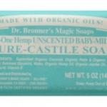 Dr. Bronner'S Organic Bar Soaps Pure Castile – All-One Hemp Unscented Baby-Mild Bar Soap, 5 oz.