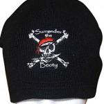 Surrender the Booty Pirate Beanie/ Ski cap / tuque / knit cap