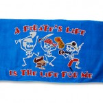 Beach Towel: A Pirate's Life For Me (30″ x 60″)