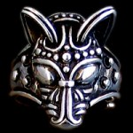 JD-ADR91 Wolf Head Ring Large