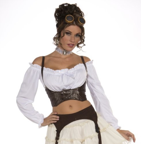 Forum-Novelties-Womens-Steampunk-Costume-Corset-Belt-Brown-One-Size-0