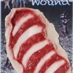 Zombie style Chest Wound latex appliance