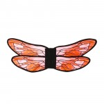 Red/Pink Watercolor Dragonfly Wings, One Size Fits Most