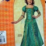 Green Renaissance Princess Dress/Costume :Small 3-4 years (US Size 4-6)
