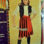 Pretty Pirate Girl Costume, Small 4-6