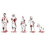 Zombie Family Decal Cling Set #2
