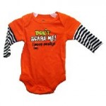 Infant Onsie/Bodysuit: Don't Scare Me I Poop easily (3-6 months)