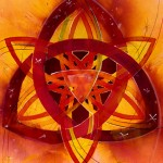 Card: Brigid's Vision (Red Trinity) by Jill Sattler