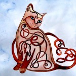 Card: Celtic Cat by Jill Sattler