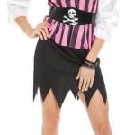Women's Pirate Costume: Flirty Pirate, Xtra Large Size