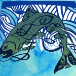 Card: Celtic Salmon by Jill Sattler