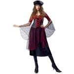 Striped Pirate Girl Costume, Woman Small (4-6)